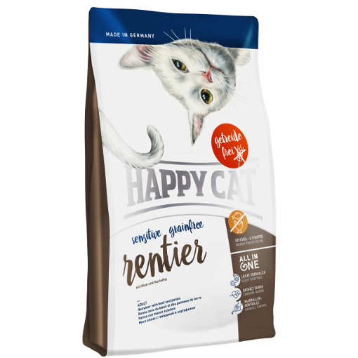 Happy Cat Sensitive bez zbóż Renifer 1,4kg
