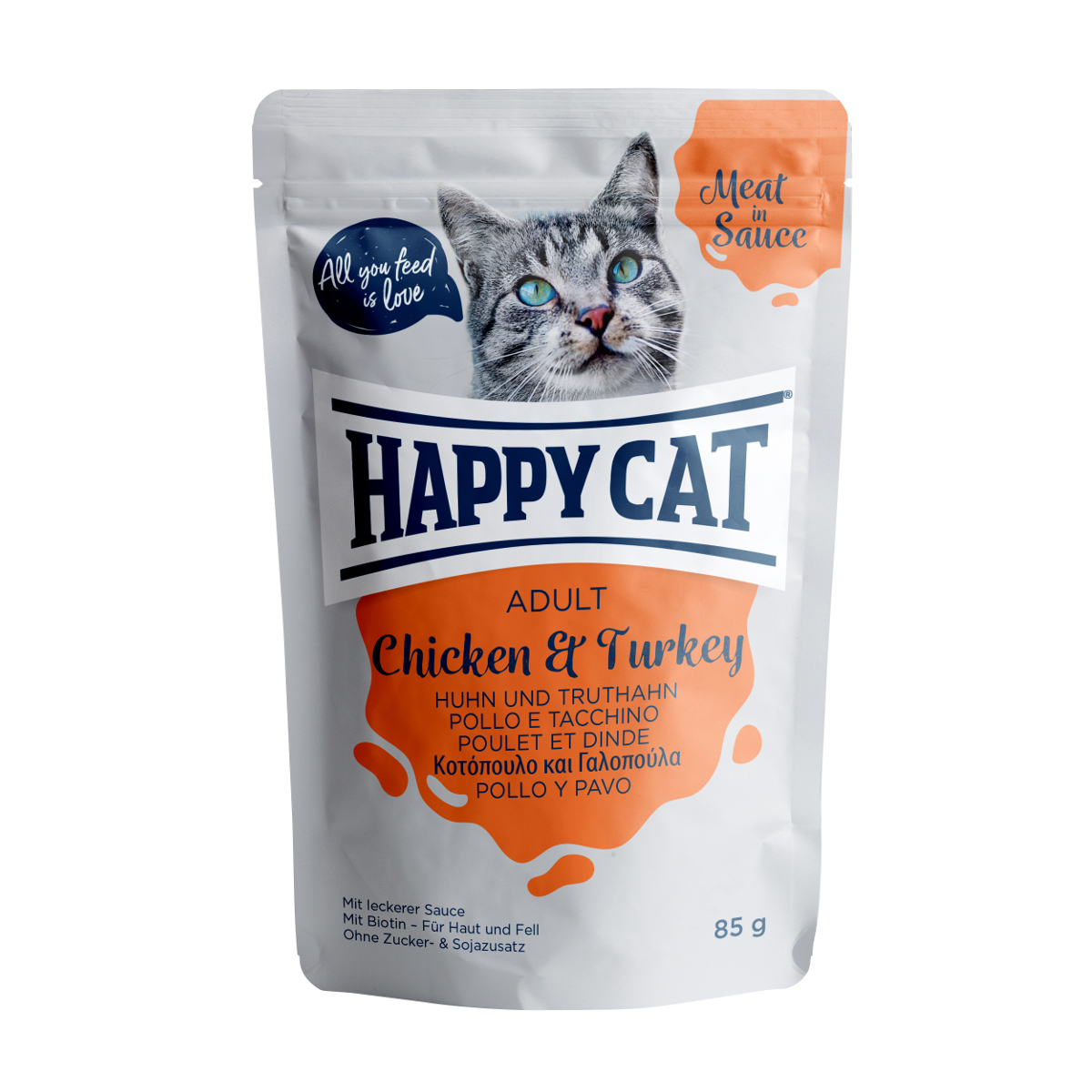 Happy Cat W Sosie Kurczak Indyk