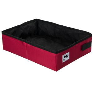 Foldable litter box - red