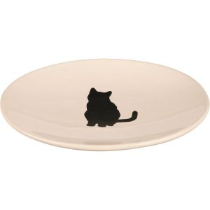 Porcelain plate with a cat motif