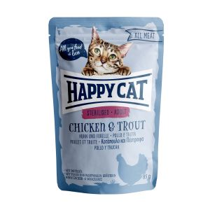 Happy Cat All Meat Sterilised Kurczak & Pstrąg