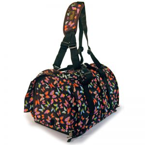 Sturdi Bag LE Large - black butterflies