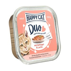 Happy Cat DUO Chicken and salmon 100g