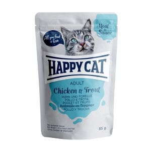 Happy Cat in Sauce Chicken & Trout