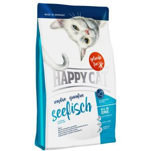 Happy Cat Sensitive bez zbóż Ryby Morskie 1,4kg