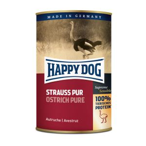 Happy Dog Strauß Pur 400g