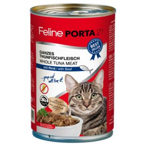 Feline Porta21 whole Tuna meat with Beef 400g