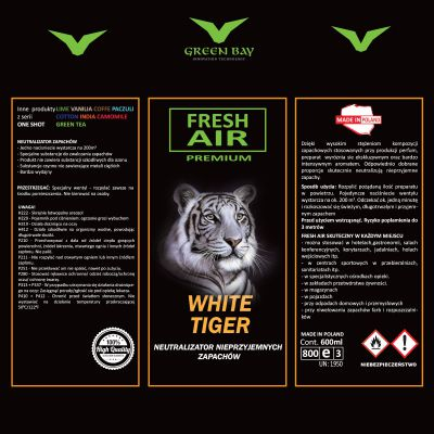 Neutralizator zapachu One Shot Premium - white tiger