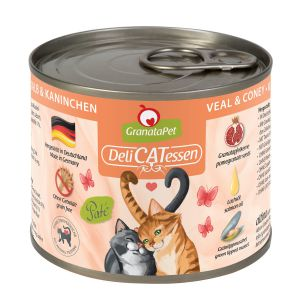 GranataPet DeliCATessen Calf & rabbit 200g
