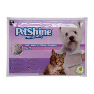 Petshine Talco gloves for a dry bath