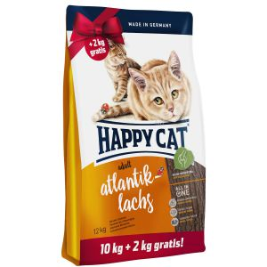 Happy Cat Adult Łosoś Atlantycki 10+2kg