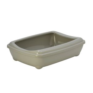 Oval litter box with frame - beige