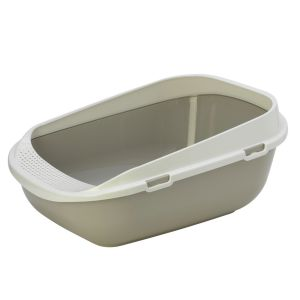 XXL litter box with rim - beige