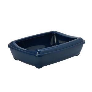 Oval litter box with frame - dark blue