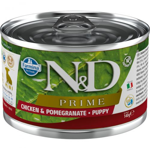 Farmina N&D Prime Mini Puppy Kurczak i Granat 140g