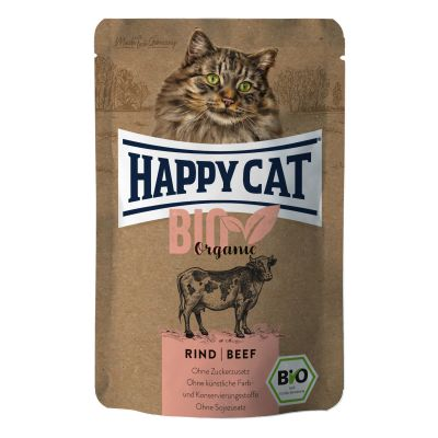 Happy Cat Bio Wołowina 85g