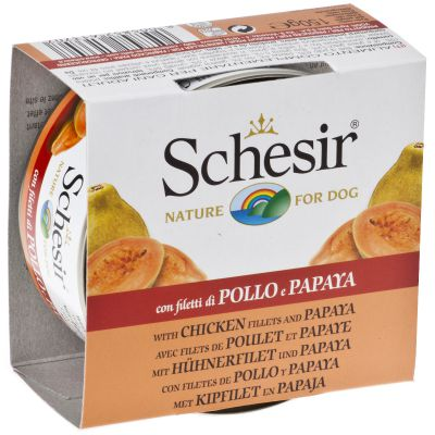 Schesir Filet z Kurczak z Papają 150g
