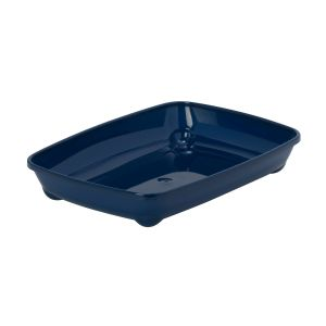 Oval litter box - dark blue